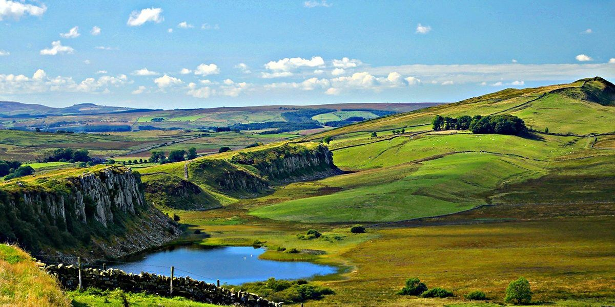 Crag Lough in Hadrian's Wall Country, Northumberland, England