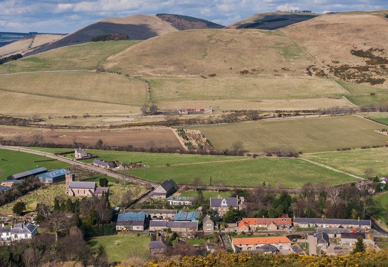 The village of Kirknewton