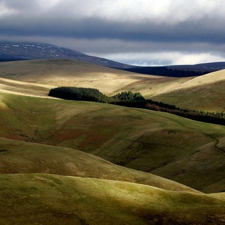A view of the Otterburn Ranges