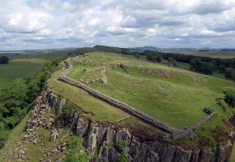 Walltown crags from the air