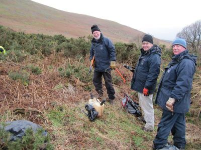 Heritage at Risk volunteers Clearing Gorse
