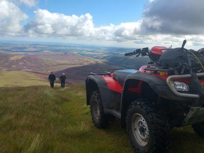 Volunteers in the Cheviots