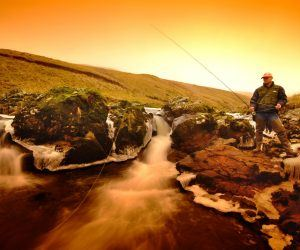 Fishing on the River Coquet in the Northumberland National Park