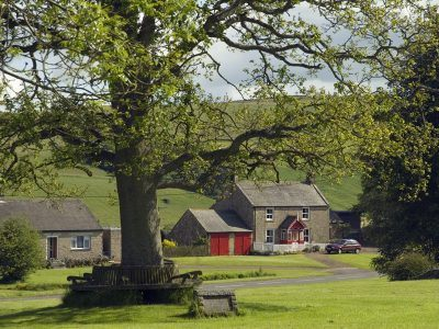 The village green in the village of Elsdon