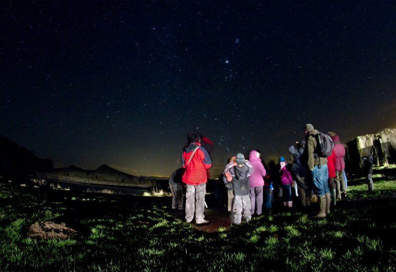 Stargazing at Cawfields in Northumberland National Park