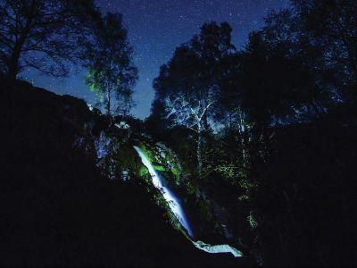 Linhope Spout at night