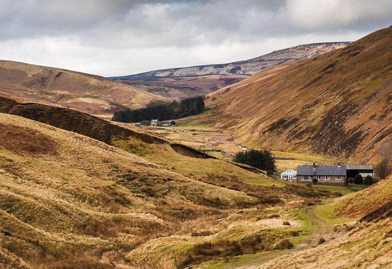 High and Low Bleakhope Farms in the Breamish Valley