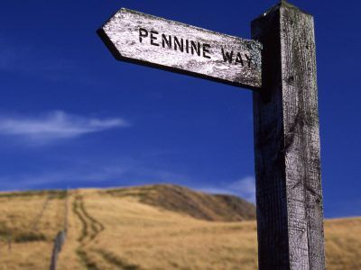 Pennine Way finger post