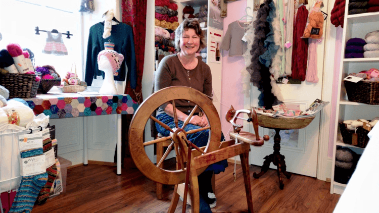 Avril Graham of Rainbow Yarns