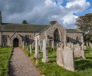 St Cuthberts Church in the village of Elsdon
