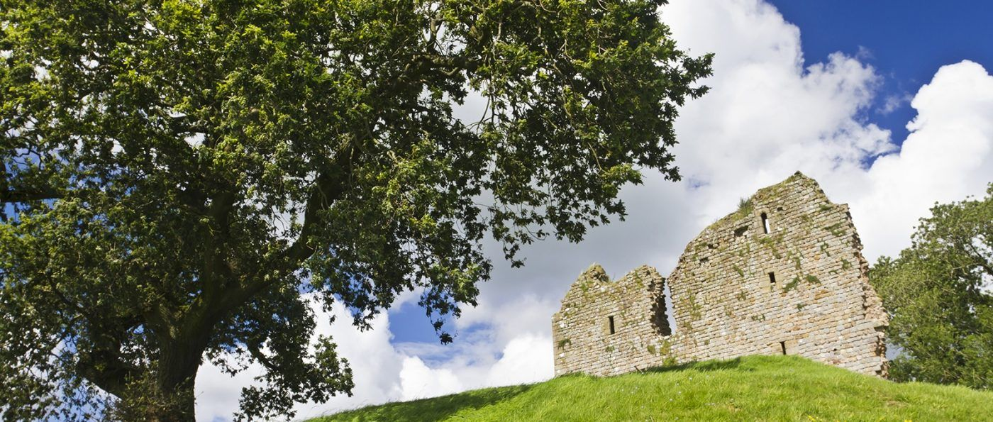 Thirlwall Castle near the village of Greenhead and the Northumberland National Park.