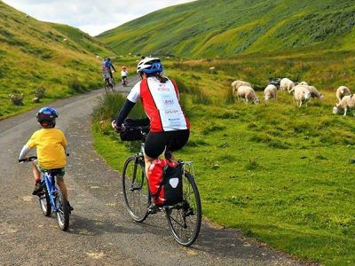 Family Cycling the National Park