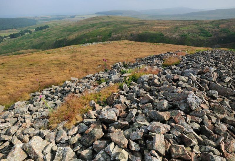 The remains of humbleton hill fort close to Wooler