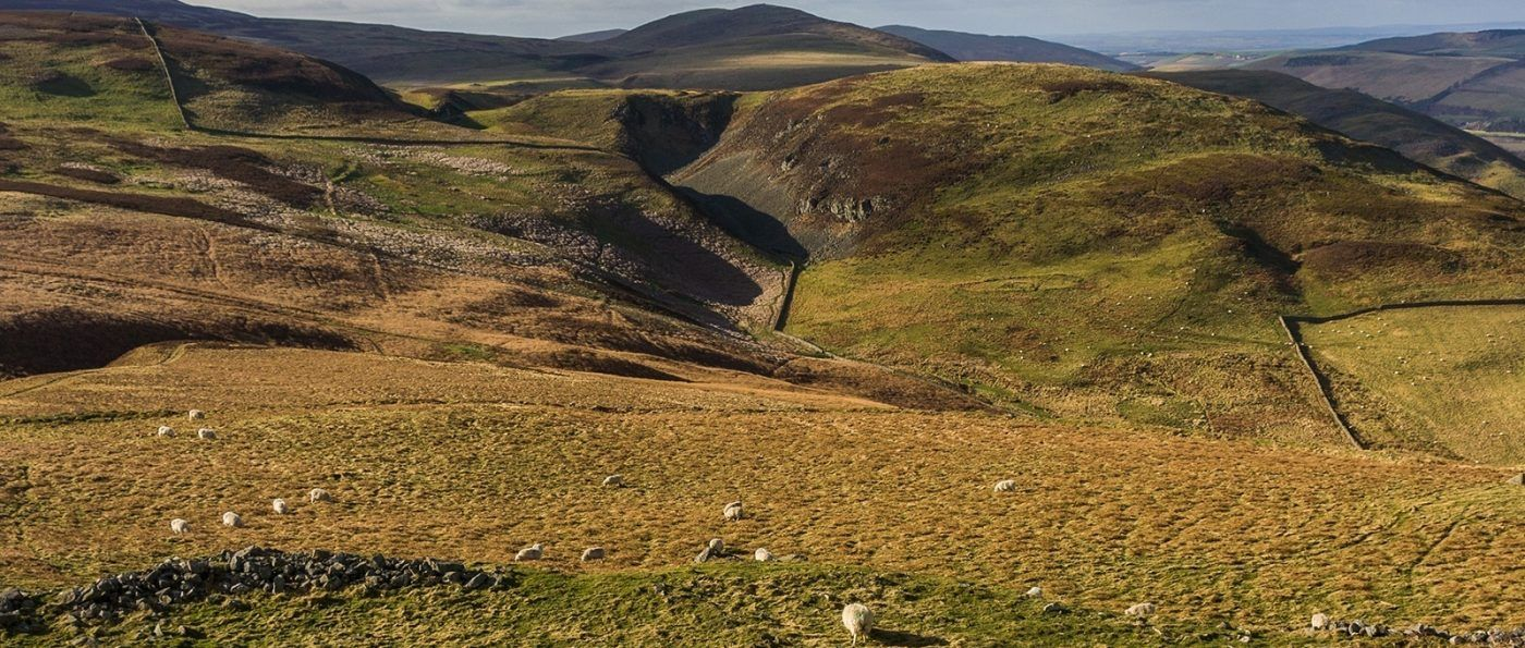 View of Monday Cleugh and Yeavering Bell