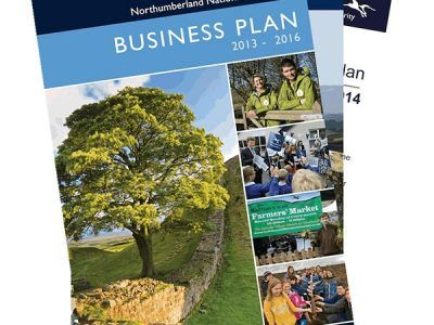 the front cover of out business plan document
