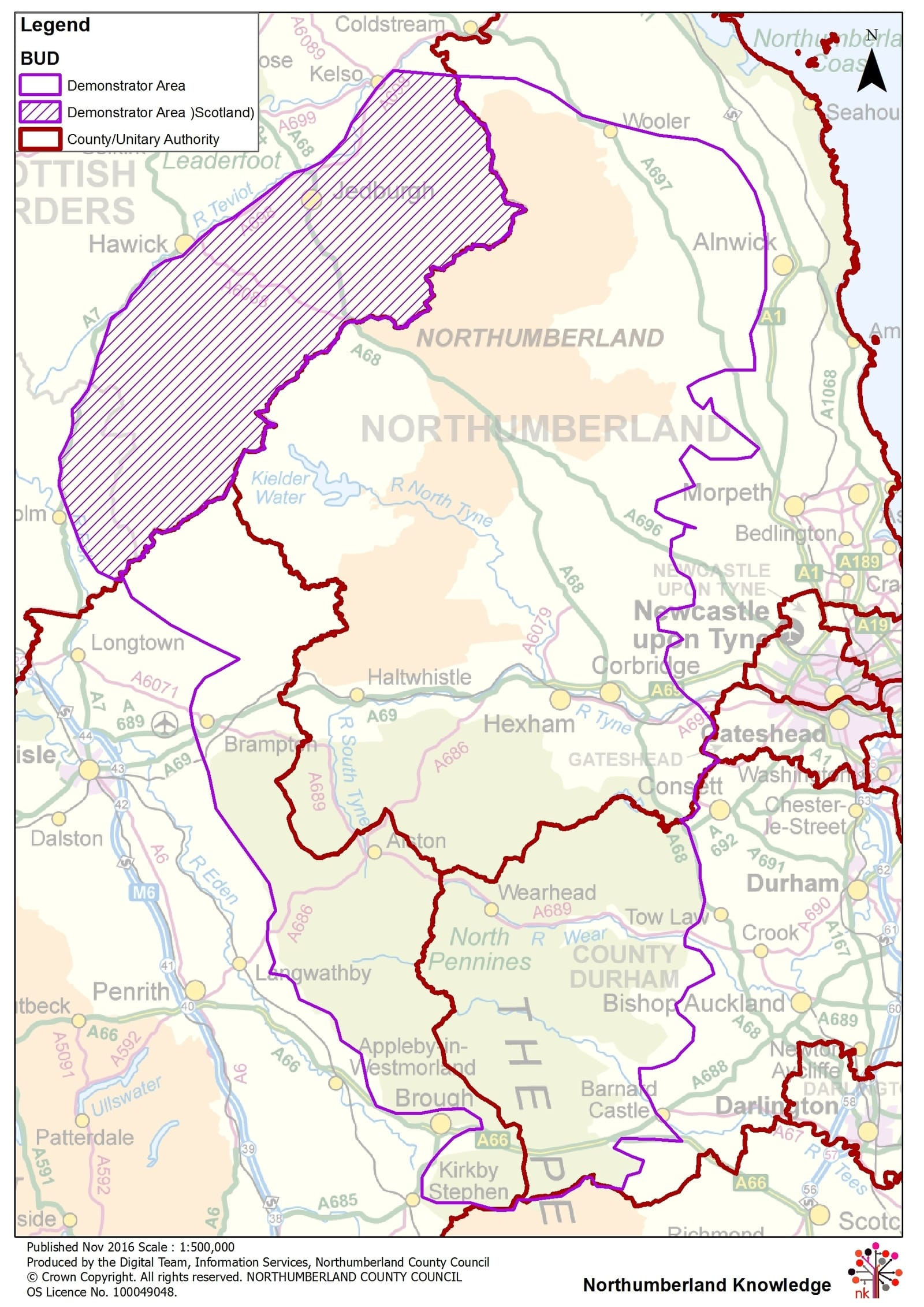 Border Uplands Demonstrator Map