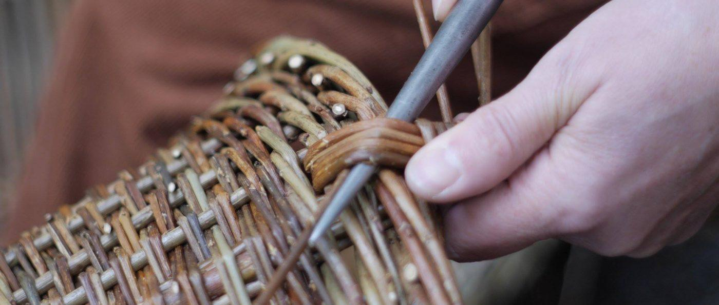 basket making close up photo