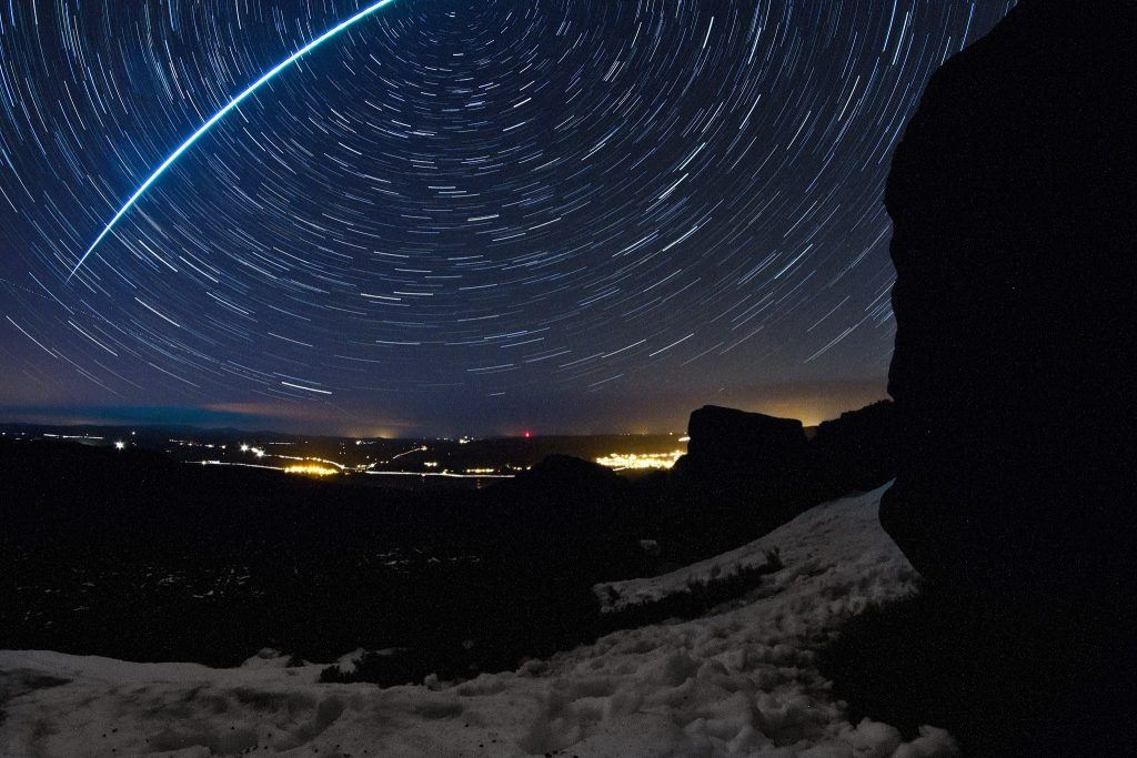 Meteor over Northumberland