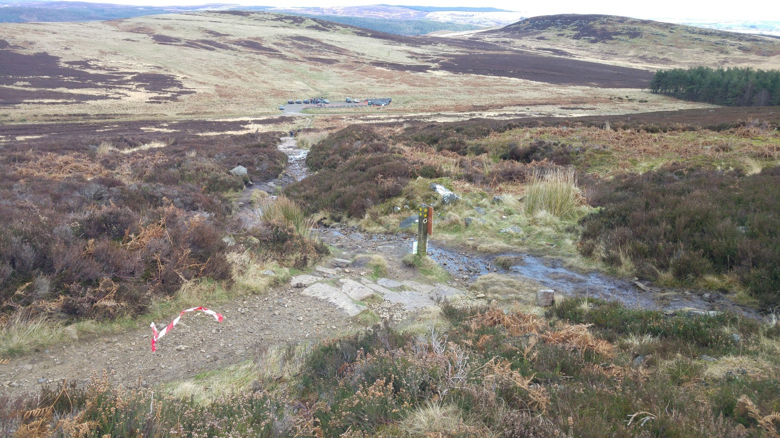 Simonside Path before repairs
