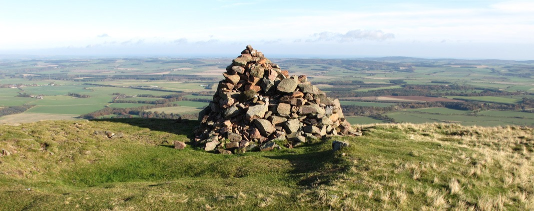 summit cairn Yeavering Bell