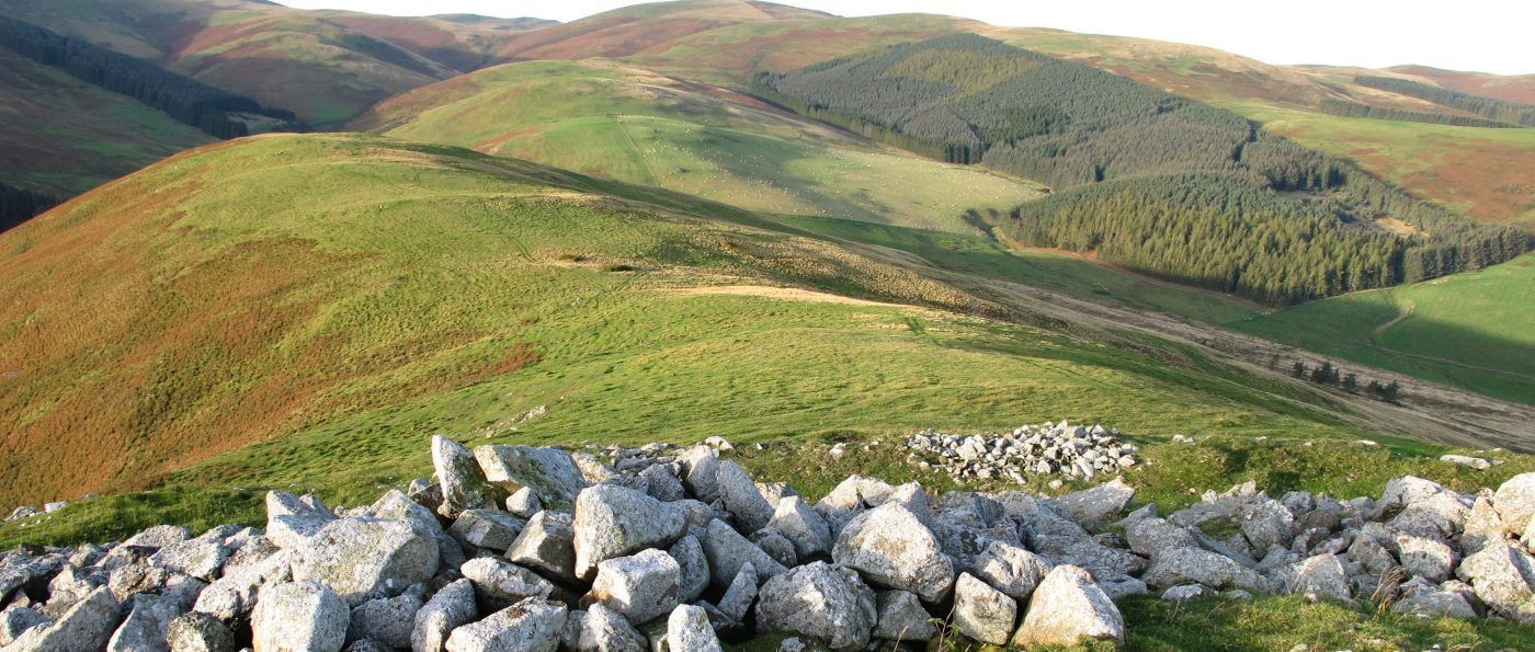 Great Hetha hillfort rampart