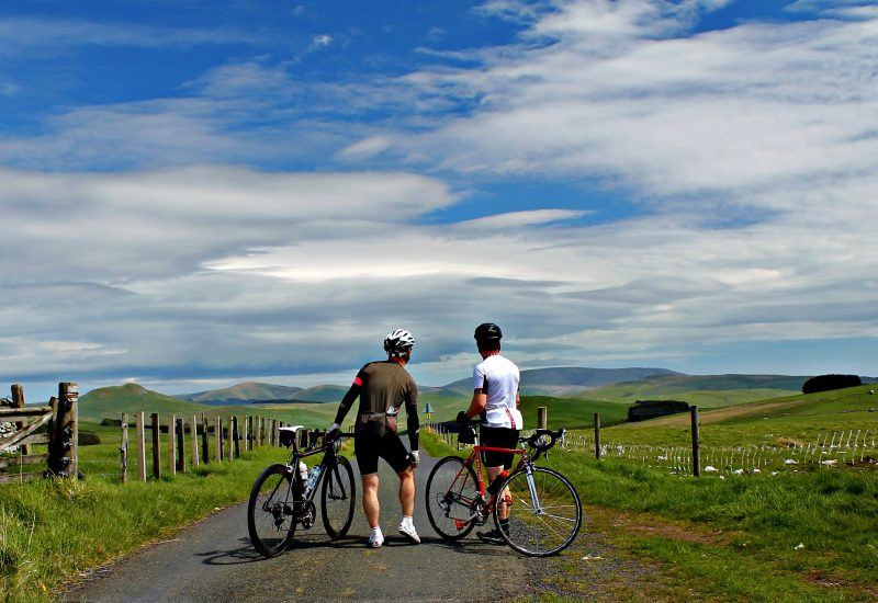 Cyclists in the National Park