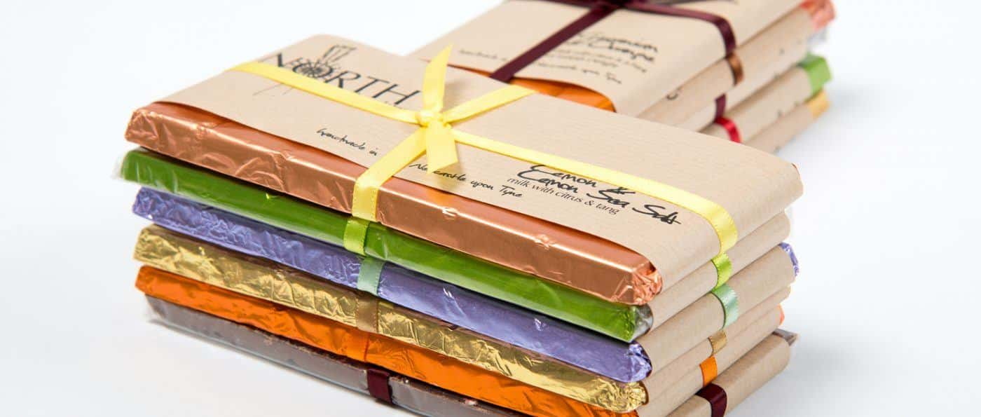 North Chocolate bars wrapped up