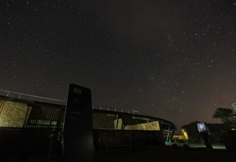 The Sill at night with starry skies