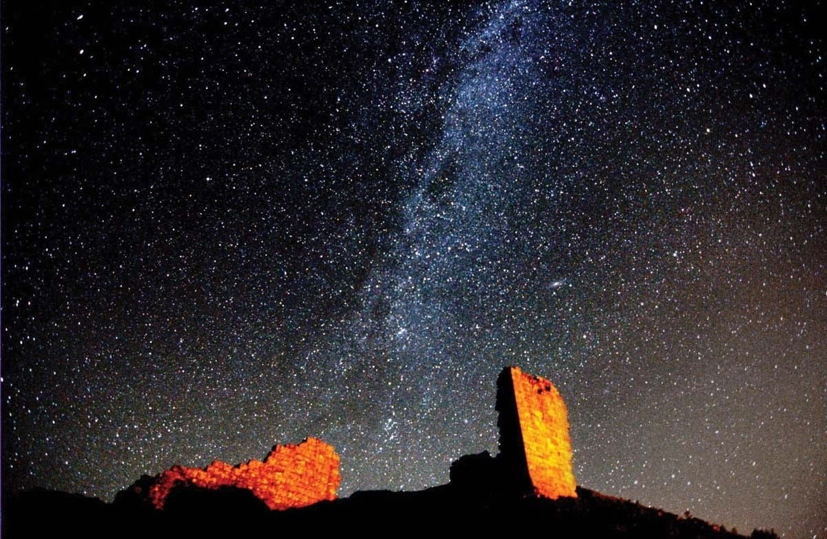Harbottle Castle Milky Way