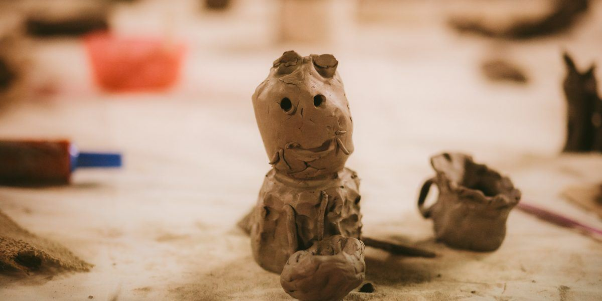 a monster made out of clay