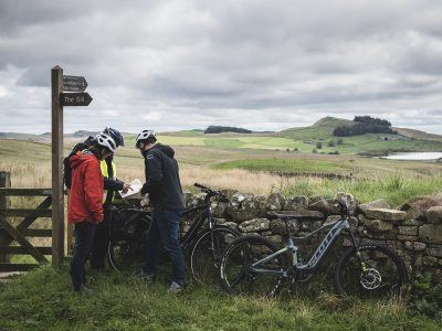 Ebike riding near Hadrian's Wall