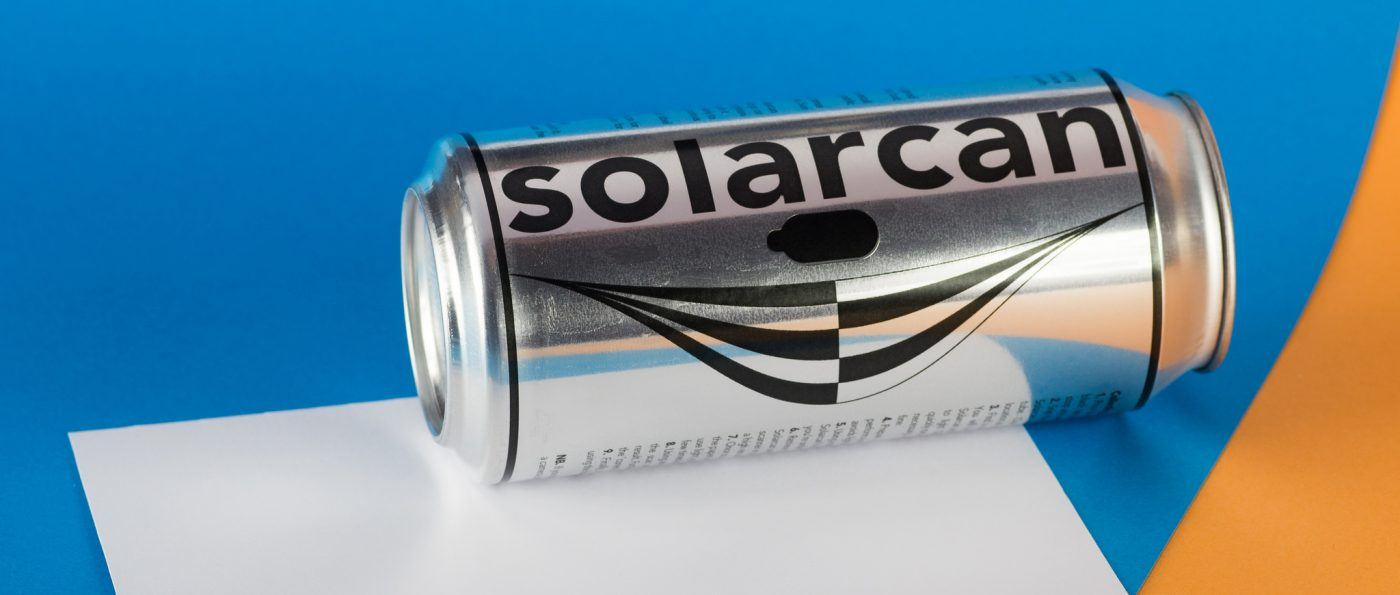 A solarcan camera on a table