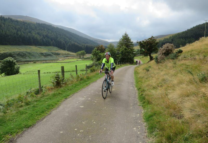 a cyclist riding the college valley