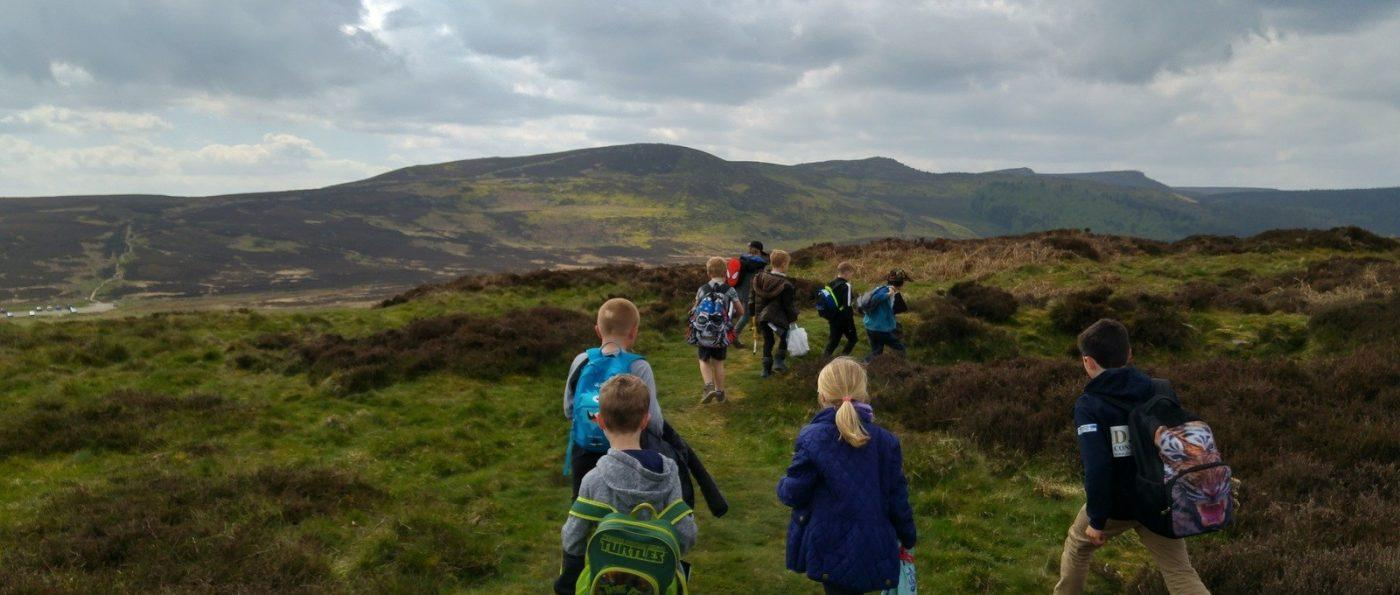 Young learners walking in the National Park