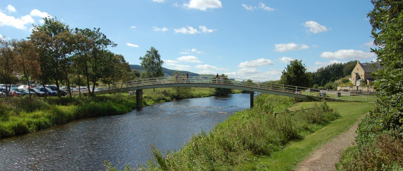A photo of the river coquet at Rothbury