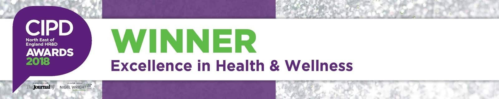 CIPD Awards 2018 Winner for Excellence in Heath and Wellness award logo