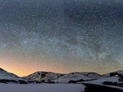 Barrowburn Cheviots with starry skies by Ian Glendinning