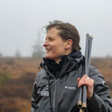 Officer Abi Mansley working on a peat bog in the national park