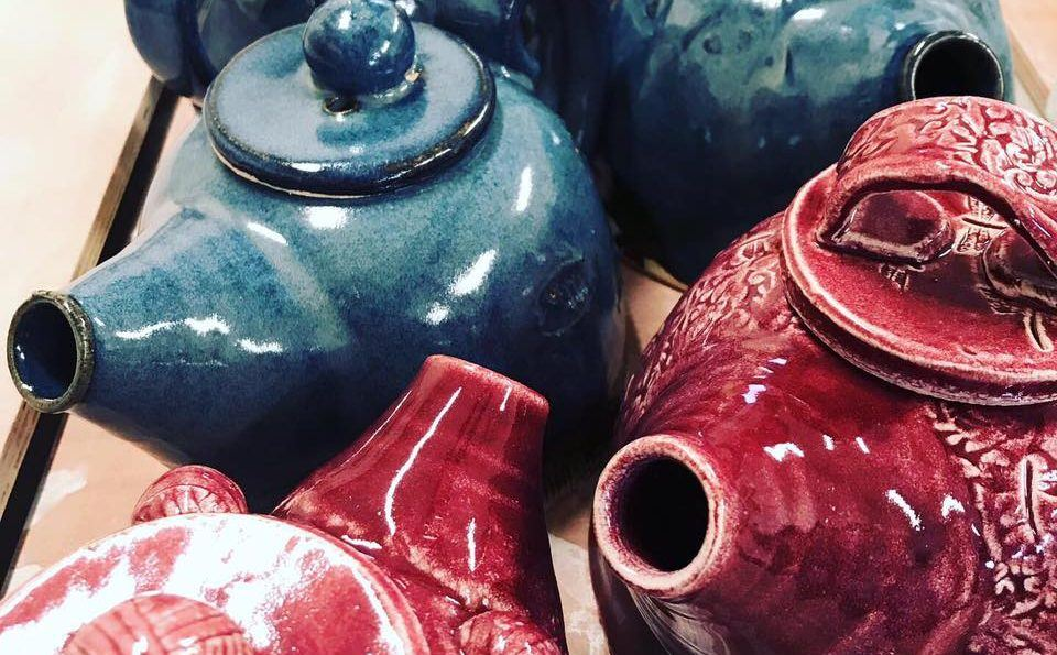 Handmade Teapots made by Muddy Fingers Pottery