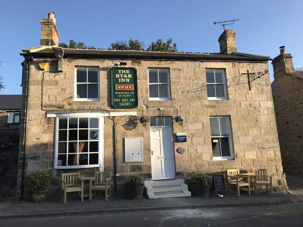 The Star Inn public house in Harbottle