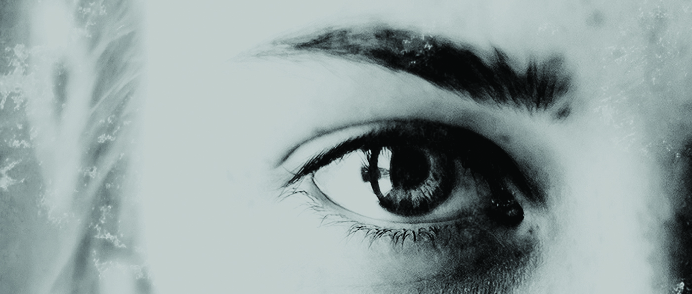 Close up of young girls eye