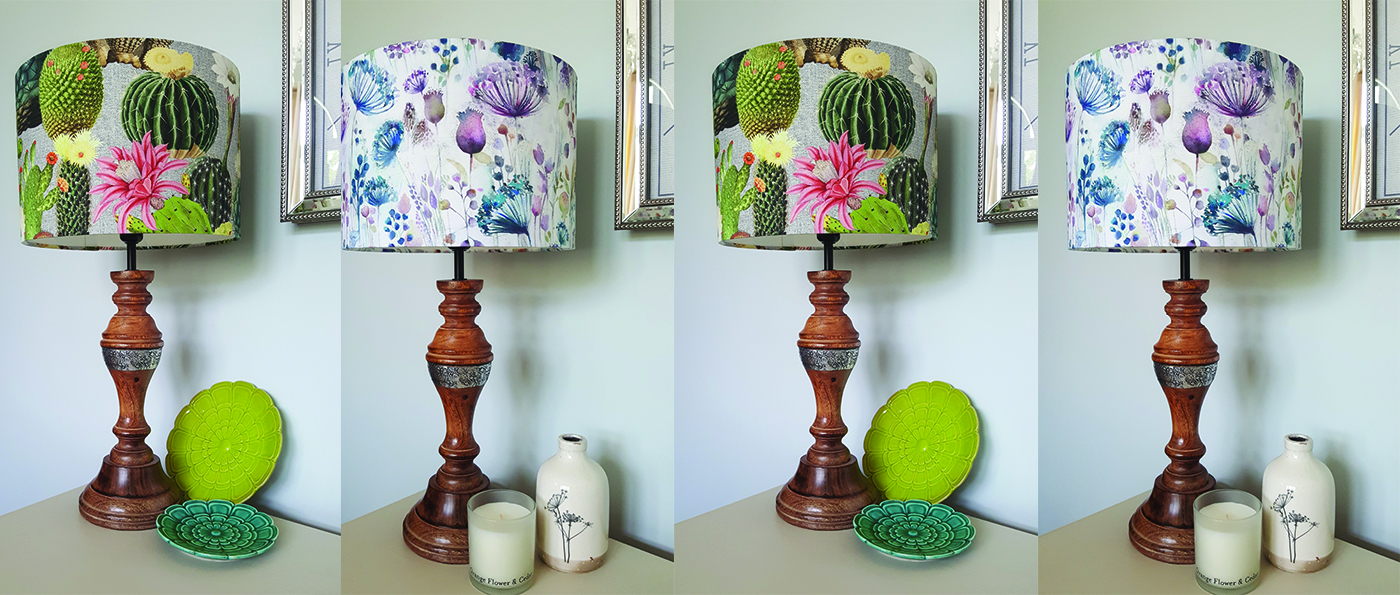 examples of handmade lampshades made by the crafters makery