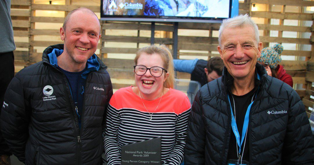 Katie Armstrong, who started volunteering at The Sill: National Landscape Discovery Centre in July 2018 whilst at Newcastle College collecting her award for the in the Young Person Award category