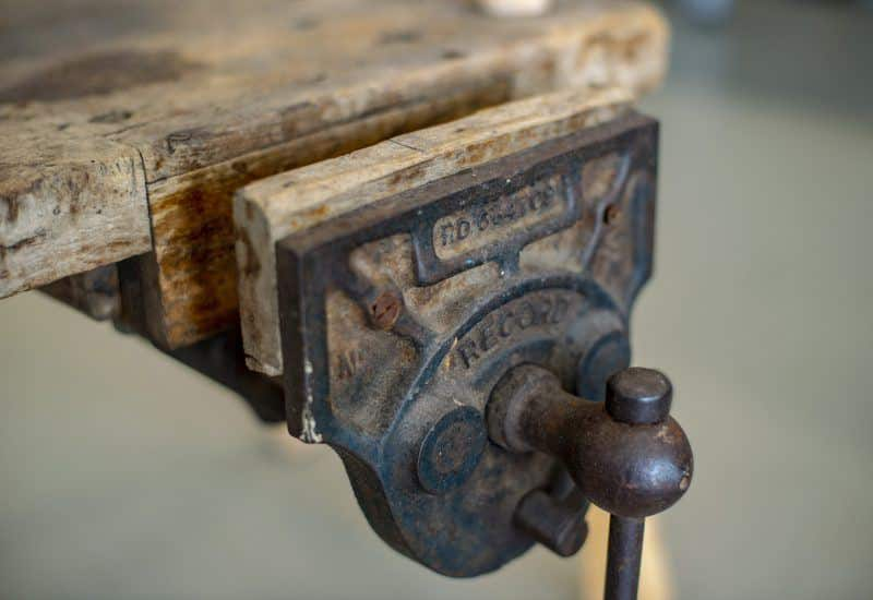 wood in a vice