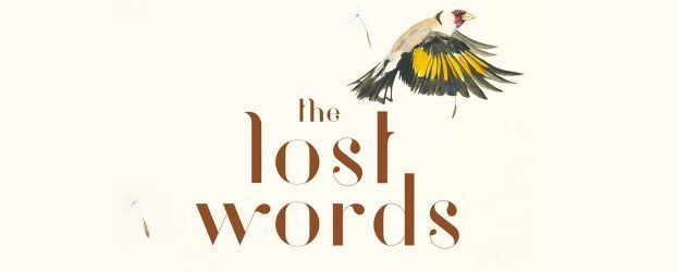 The title of the book The Lost Words with an illustration of a small bird