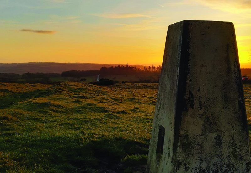 A Trig Point on Hadrian's Wall Path National Trail