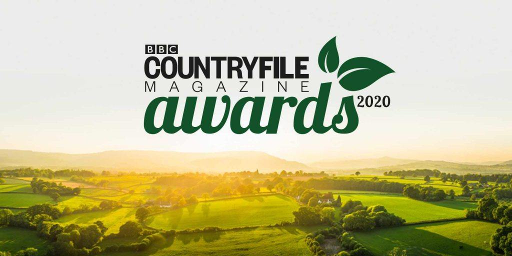 "A countryside scene with text reading ""BBC Countryfile Magazine Awards 2020"""