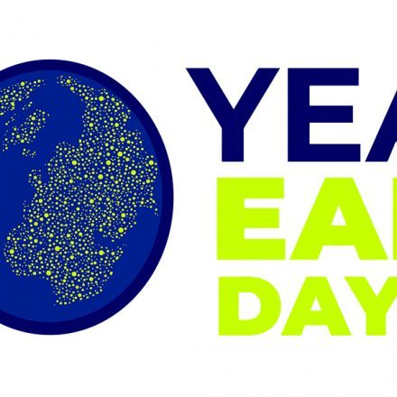 """An Earth Day graphic reading """"50 years Earth Day 2020"""""""