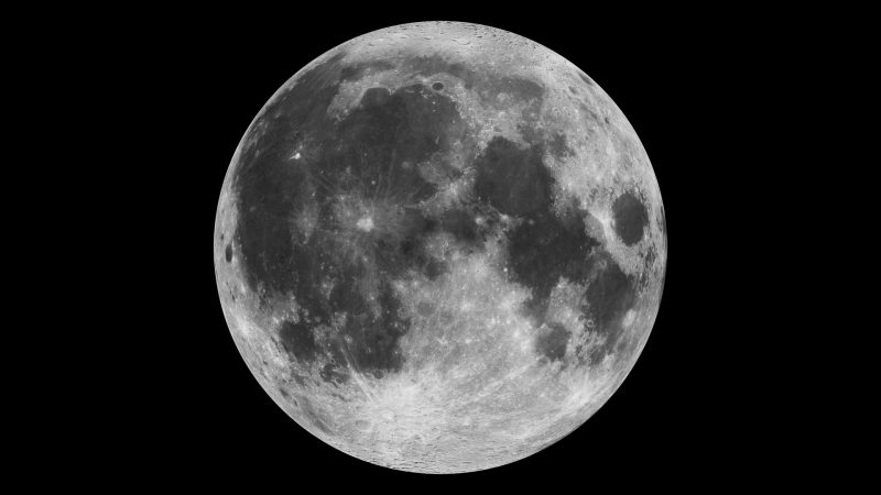 A detailed photo of the Full Moon.